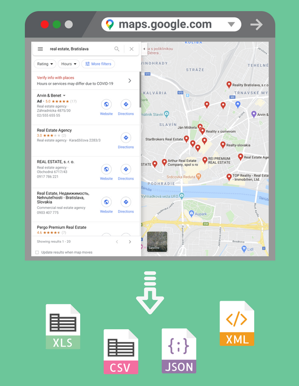 Scrape Google Maps: Extract business leads, phone numbers, addresses.